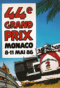 44th Framed Prints - 44th Monaco Grand Prix 1986 Framed Print by Nomad Art And  Design