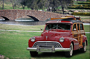 Woodies Framed Prints - 47 Olds Woody Framed Print by Bill Dutting