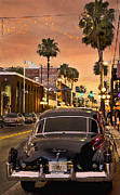 Florida Sunset Framed Prints - 48 Cadi Framed Print by Steven Sparks