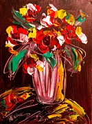 Europe Posters Paintings - Flowers by Mark Kazav