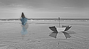 Floating Girl Art - Untitled  by Betsy A Cutler East Coast Barrier Islands