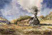 Steam Train Paintings - 481 From Durango by Sam Sidders