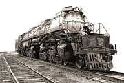 Locomotive Photo Framed Prints - 4884 Big Boy Framed Print by Olivier Le Queinec