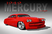 Lowrider Framed Prints - 49 Mercury Coupe Framed Print by Mike McGlothlen