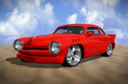 Street Rod Digital Art - 49 Mercury by Mike McGlothlen