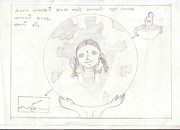 Save The Girl Child Drawings - 49 by Sonal Makwana