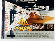 1959 Movies Photo Posters - 4d Man, Robert Lansing, 1959 Poster by Everett