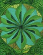 Chakra Paintings - 4th Mandala - Heart Chakra by Jennifer Christenson