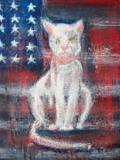 Patriotic Paintings - 4th of July Baby by Roxanna Finch
