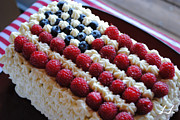4th July Photo Originals - 4th of July Cake by Olena Lawson