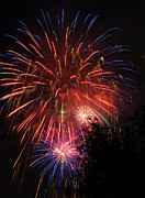 Fireworks Prints - 4th of July Fireworks - Salt Lake City- Utah Print by Gary Whitton