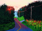 Power Paintings - 4th of July Sunset by Laurie Breton