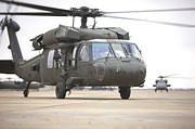 Copy Machine Photography - A Uh-60 Black Hawk Taxis by Terry Moore