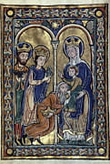 Manuscript Illumination Prints - Adoration Of Magi Print by Granger