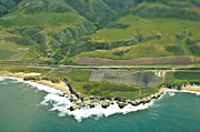 In Depth Framed Prints - Aerial View of a Coastal Road Framed Print by Eddy Joaquim