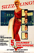 1955 Movies Posters - 5 Against The House, Aka Five Against Poster by Everett