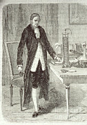 Electric Current Prints - Alessandro Volta, Italian Physicist Print by Science Source