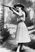 19th Century America Prints - Annie Oakley (1860-1926) Print by Granger
