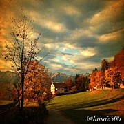 Clouds Art - Autumn In South Tyrol by Luisa Azzolini