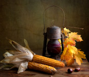 Wicker Basket Prints - Autumn Print by Nailia Schwarz