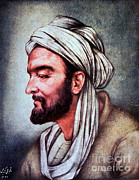 Persian Illustration Framed Prints - Avicenna, Persian Polymath Framed Print by Science Source