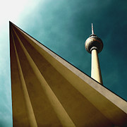 Tv Mixed Media Posters - Berlin TV Tower Poster by Falko Follert