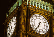 6:35 Prints - Big Ben in London Print by Carl Purcell