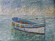 South Of France Paintings - Boat of Provence  by Frederic Payet