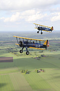 Old Objects Prints - Boeing Stearman Model 75 Kaydet In U.s Print by Daniel Karlsson