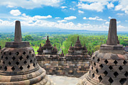 Buddhism Art - Borobudur by MotHaiBaPhoto Prints