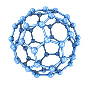 Molecular Structure Art - Buckminsterfullerene Molecule by Laguna Design