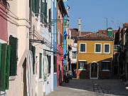 Venice Photos - Burano island. Venice by Bernard Jaubert