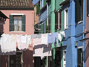 Washing Framed Prints - Burano.VENICE Framed Print by Bernard Jaubert