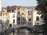 Venice Photos - Canal. Venice by Bernard Jaubert