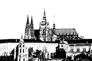 Prague Mixed Media Prints - Cathedral of St Vitus Print by Michal Boubin