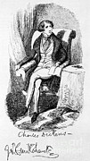 Cruikshank Art - Charles Dickens, English Author by Photo Researchers
