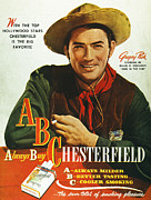 Smoker Posters - Chesterfield Cigarette Ad Poster by Granger