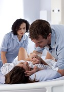35-39 Years Posters - Childbirth Poster by