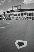 Base Prints - Citi Field - New York Mets Print by Frank Romeo