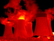 False Power Prints - Cooling Towers, Thermogram Print by Tony Mcconnell