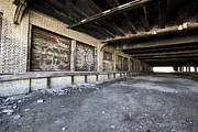 Detroit Tigers Art Prints - Detroit Abandoned Building Print by Joe Gee