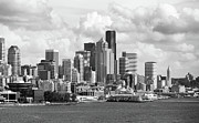 Space Needle Photographs Framed Prints - Downtown Seattle Framed Print by William Jones