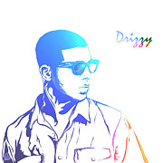 Young Money Prints - Drizzy  Print by The DigArtisT