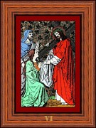 Icon Glass Art Framed Prints - Drumul Crucii - Stations Of The Cross  Framed Print by Buclea Cristian Petru