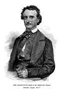 Edgar Alan Poe Metal Prints - Edgar Allan Poe (1809-1849) Metal Print by Granger