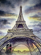 The Eiffel Tower Prints - Eiffel Tower Paris Print by Irina Sztukowski