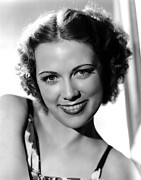 Bare Shoulder Metal Prints - Eleanor Powell, Portrait Metal Print by Everett