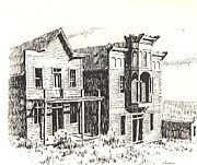 Towns Drawings - Elkhorn Ghost Town Montana by Kevin Heaney