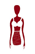 Silhouette Drawings - Fashion Sketch by Frank Tschakert