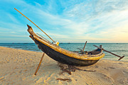 Tropical Sunset Prints - Fisherman boat Print by MotHaiBaPhoto Prints